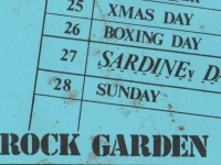 Rock Garden flyer for SARDINE v first show.