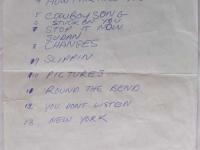 Sardine V Set List